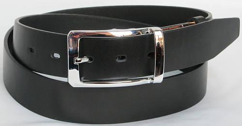 Ремень кожаный мужской брючный FLX 2563 чёрный ДхШ: 133х3,5 см.