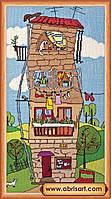 Наборы для вышивания крестом Летний домик АН-018
