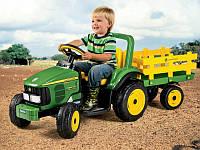 Детский Электромобиль трактор с прицепом John Deere Power Pull 6V, мощность 50W