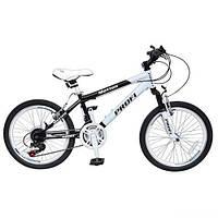 Bелосипед Profi Motion 20 дюймов.  white-black