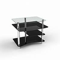 Компьютерный стол из стекла модель Леон