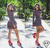 """Платье """"Матиас"""" (серое в красную клетку)"""