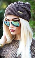 Женская шапка шерсть с акрилом Турция