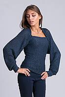 Интересный вязанный свитер-шарф