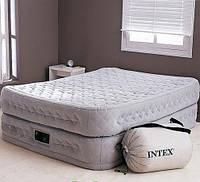 Надувная двухспальная кровать со встроенным насосом 66962