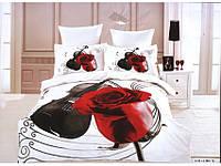 Полуторное постельное белье  Arya сатин 70х70  Violia с виолончелью