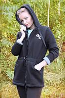 """Теплая женская кофта парка из трехнитки  """"Converce"""""""