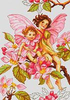 B298 Цветы яблони. Набор для вышивания крестом