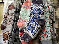 Шерстяные носки женские овечья шерсть