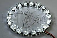 """Ангельские глазки LED-SMD LOTUS 90 мм. для биксеноновых линз 3,0"""" (⌀76мм)"""