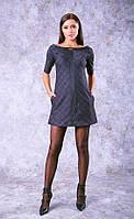 Короткое платье в клетку