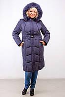 Женское зимнее стеганное пальто больших размеров (рр 52-62)