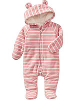 "Флисовый комбинезон ""Pink Stripe"" Old Navy"