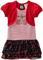 """Платье для девочки красное """"So La Vita"""". Размер:L(рост:114-122 см.)"""