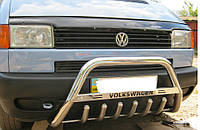 Защита передняя (кенгурятник) с надписью для Volkswagen T4 (Фольксваген Т4)