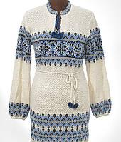 Вязаная льняная туника для женщин - Орнамент