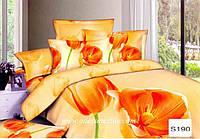 Комплект постельного белья  ELWAY сатин 3D 190
