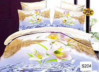 Комплект постельного белья  ELWAY сатин 3D 204