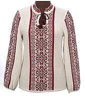 Женская блузка на льне вязаная