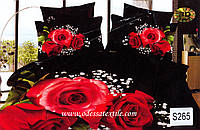 Комплект постельного белья  ELWAY сатин 3D 265