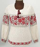 Вязаная блуза из льна - Ружа