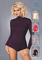 Женская блуза-боди с воротником-стойка и длинным рукавом. Модель BDV 023 Gaia, коллекция осень-зима 2015-2016.