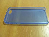 Чехол-накладка для iPhone 5С ультратонкий пластик голубая
