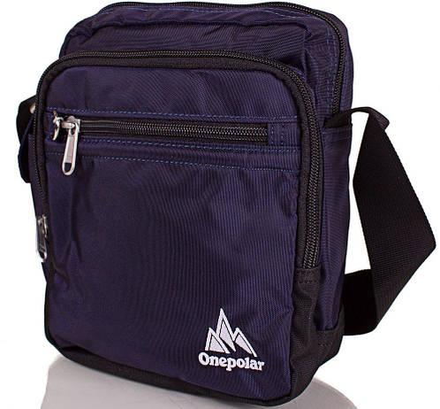 Легкая мужская спортивная сумка ONEPOLAR (ВАНПОЛАР), W5053-navy