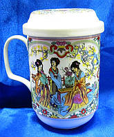 Чашка чайная заварочная с ситом Девушки