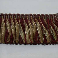 Бахрома имеджен петля, бордо-золото