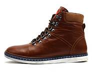 Ботинки Samas Barcode, мужские, натуральная кожа, на меху, коричневые, р. 40 41 42 43 44 45, фото 1