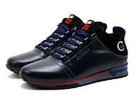 Ботинки Cuddos, мужские, натуральная кожа, на меху, темно-синие, фото 1