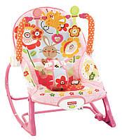 Кресло качалка Зайчик музыкальный Fisher-Price Infant To Toddler Rocker, Bunny