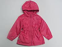 Детская удлинённая ветровка/куртка для девочки на флисе тм Белль Бимбо Беларусь р.92-98