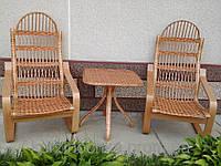 Плетенный набор плетенный из лозы для дома, кафе,ресторанов.