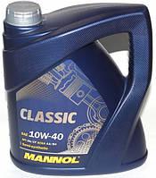 Полусинтетическое моторное масло Mannol Classic10w40 3+1L
