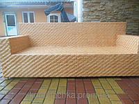 Плетеный диван из натуральной лозы
