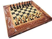 Сувенирный набор ручной работы шахматы-нарды