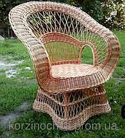 """Кресло """"королевское""""плетеная из лозы"""