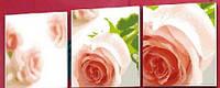 "Раскраска по номерам ""Триптих. Композиция из роз"" (MT3061) MENGLEI Триптих 50 х 150 см"