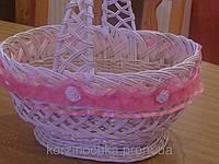 Пасхальная корзина из лозы украшеная декором