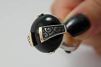 Серебряное кольцо с крупным ониксом