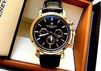 Мужские часы кварцевые PATEK PHILIPPE золото , недорогие наручные часы
