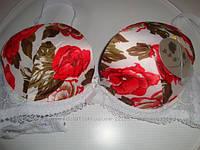 С чашка  белый маки поролон с цветами 80 см