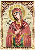 14,8х21 см Богородица Семистрельная схема вышивка бисером