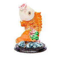 """Фигурка рыба """"Золотая рыбка"""" 8706 на подставке из дерева"""