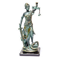 "Бронзовая статуэтка ""Фемида под бронзу"" атрибут судьи, слуги закона S883"