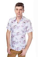 Мужская рубашка, 6007 цветочный принт