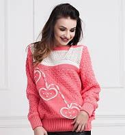 Качественный женский свитер в ярком цвете от производителя