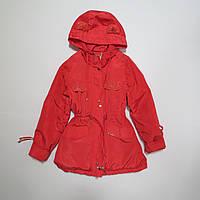 Детская демисезонная куртка Парка/пальто для девочки р.140